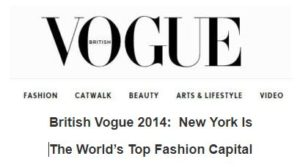 NewYork is the Top Global Fashion Capital of 2014